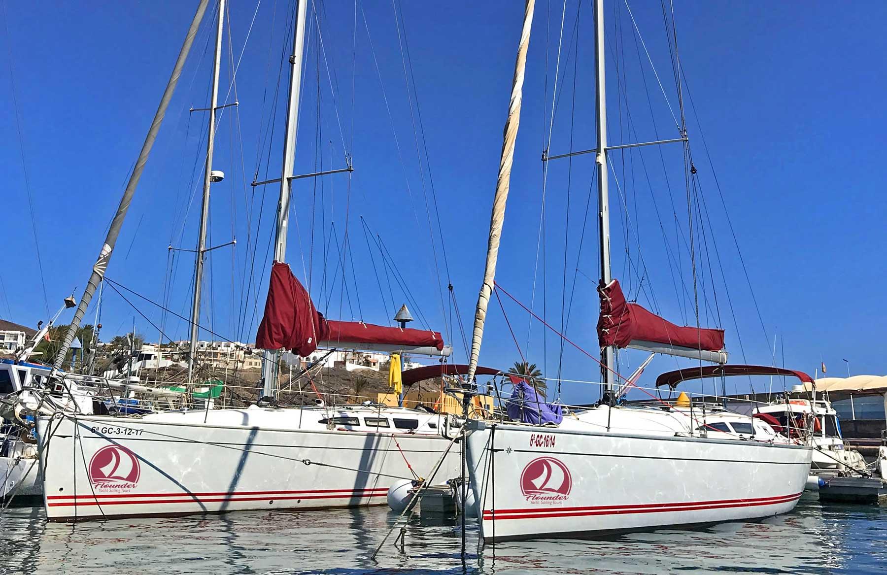 Die Flounder Segelboote
